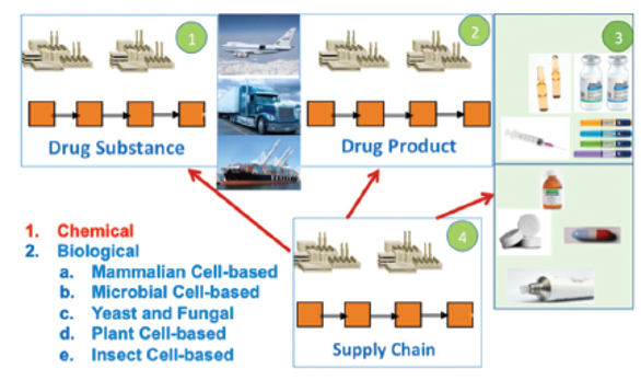 Batch process manufacturing from seed to unit dose